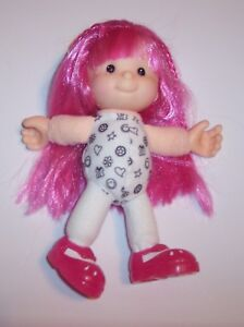 """Vintage 2001 Mattel Fisher Price Doll 7 1/4"""" Pink Hair COLOR ME CUTIES Paige GUC"""