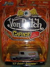 """JADA Von Dutch Garage Gray '57 Chevy Suburban """"ROAD RATS"""" 1/64 NEW wave 1"""