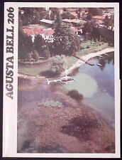 AGUSTA BELL 206 HELICOPTER ELICOTTERO - SALES BROCHURE  - ENGLISH
