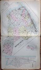 1905 MONMOUTH COUNTY NEW JERSEY REPRODUCTION ATLAS MAP 24x36