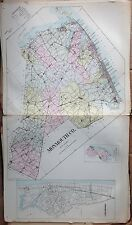 "ORIGINAL 1905 MONMOUTH COUNTY NEW JERSEY ATLAS MAP 18.5"" x 32"""