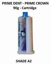 NEW Prime Dent Prime Crown 1 x 90g cartridge- Refill Shade A2  USA  Fast Ship US