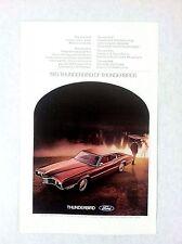 Vintage 1970 Ford Thunderbird Original Print Ad Automobile Car