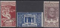 Italy Regno - 1922 Mazzini - Sass. n.128-130 cv 200$ used
