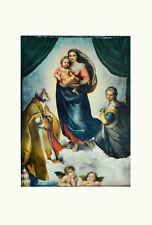 Raffael Sixtinische Madonna 83x57,6cm Kunstdruck Bild Poster Lichtdruck Engel