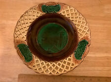 Wedgwood antique reticulated scenic majolica compote