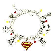 fits 9mm classic Italian Charm bracelets Supergirl Italian Charm Superman