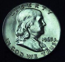C001-25 # UNITED STATES | FRANKLIN,SILVER, 1/2 DOLLAR, 1963, VF+