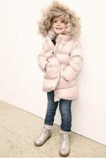 Baby Gap Girl's Pink Warmest Fur Lined Long Puffer Coat Jacket Size 12-18 M NWT