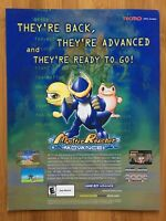 Monster Rancher Advance GBA Gameboy 2001 Vintage Game Poster Ad Print Art Rare!