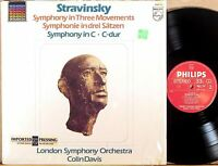 PHILIPS Stravinsky COLIN DAVIS Symphony 3 Movements/Symphony in C 6527 127 NM