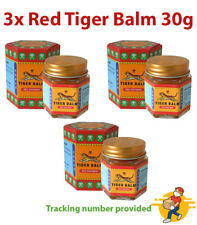 3x Red Tiger Balm Ointment Relief Pain Sprains Muscular Aches Thai Massage 30g