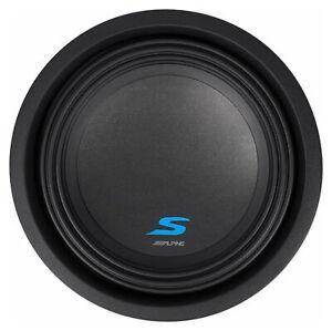 "ALPINE S-W10D2 10"" 1800 Watt Car Audio Subwoofer DVC Dual 2-Ohm Sub"