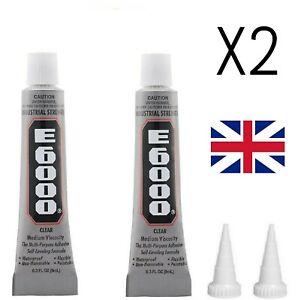 E6000 Glue Industrial Strength Crafts Diy Rhinestones 2 x 9ml UK STOCK
