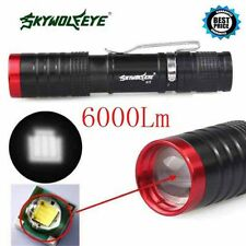6000 Lumens Zoomable  XML T6 Flashlight Torch 14500 3-Modes Tactical Lamp Light