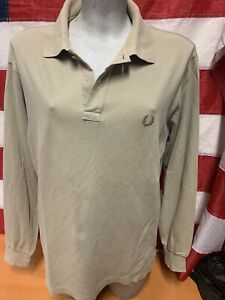 Fred Perry maglia polo Manica Lunga uomo Tg.L men's t-shirt Long Sleeve  size 40