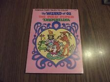 1978 The Wizard of Oz The Pied Piper Thumbelina Unused Coloring Book