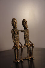 Sculpture figurine couple priomordial en bronze Dogon Art premier africain Mali