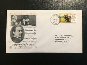 """SC#492 50c Suzor Cote """"with blue spot"""" FDC - 14 III 69"""