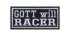 Dio vuole Racer Patch ricamate Biker Rocker tonaca FIGHTER HONDA KAWASAKI SUZUKI