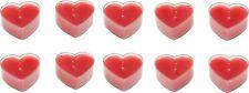 10 Herzteelichter in rot ca. 4,5 x 4 x 2 cm