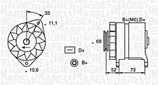 Alternator Magneti Marelli Fits FIAT Fiorino LANCIA Delta 0.7-1.9L 1979-1999