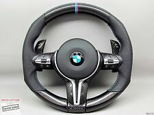 BMW F82 M4 F80 M3 F16 X6M F15 X5M M Ring Perforated THICK CARBON Steering WHEEL