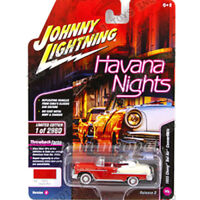 JOHNNY LIGHTNING JLCP7103 1955 CHEVROLET BEL AIR CONVERTIBLE 1/64 CYPSY RED