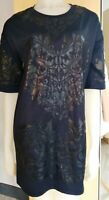 River Island Navy  Dress Tunic  Print  Detail  Size 10  Ladies Womens Lovely