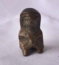 Antique Bronze Amulet, Miniature Statue, Thailand/Southeast Asia