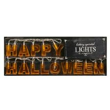 'Happy Halloween' String Lights UP Battery Operated Party Decor Props Light Wall