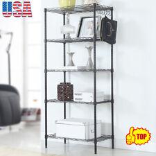 5 Tier Storage Rack Adjustable Metal Shelf Wire Shelve Kitchen Storage Organizer