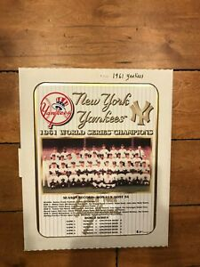 1961 NEW YORK YANKEES WORLD CHAMPIONS MINT IN BOX 13X16 PLAQUE MICKEY MANTLE