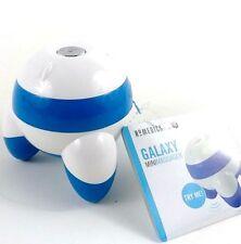 Mini Galaxy Cordless Hand Held Blue Vibrating 3 Point Massage Homedics