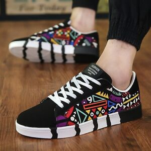 Men Sneakers Casual Shoes Flat Tenis Masculino Shoes Men Lovers Printing Fashion