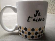 Mug collection Black & Gold noir et doré  Je t'aime