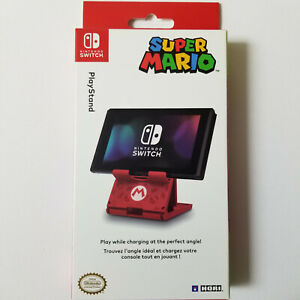 Hori Official Nintendo Switch Compact Playstand Console Stand Mario Edition