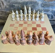 More details for hand carved soapstone tribal chess set (16inch)