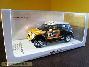 1:43 True Scale TSM, 2013 Mini Countryman All4 Racing, #307 Dakar Rally 3rd Pl.