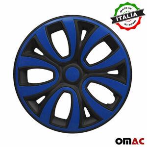 "14"" Inch Wheel Rim Cover for Honda Glossy Black with Dark Blue Insert 4pcs Set"