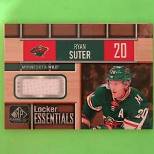 RYAN SUTER  2018  LOCKER ESSENTIALS GAME USED  #LERD  Minnesota Wild