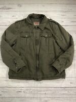 LEVIS Utility Field Quilted Warm Trucker Military Jacket Men's Size Large