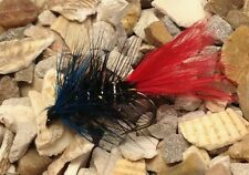 4 Size 10 Mosaic Blue Zulu Trout Wet Flies
