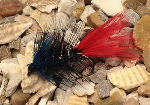 4 Size 10 Mosaic Blue Zulu Trout Flies