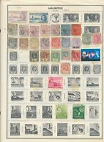 MAURITIUS: 41 Stamps from colonial times to the mid-1960s. Used on Harris Album