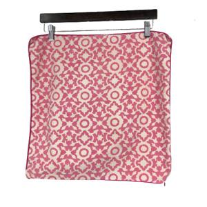 Roberta Roller Rabbit Home Pillow Sham Throw Cover Boho Geometric Pink White