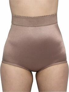 Rago Shapewear Light Shaping Hi-Waist Mocha Panty Brief Plus Size 40/5XL