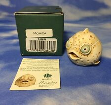 "Htf New Harmony Kingdom Roly Polys ""Monica"" Puffer Fish Box Figurine Tjrpfi Nib"