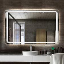 Modern Large Heated LED Illuminated Bathroom Backlit Mirror with Demister Pad UK