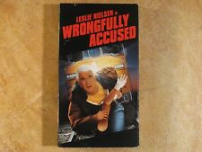 WRONGFULLY ACCUSED LESLIE NIELSEN COMEDY VHS RARE! 1ST EDITION 1998 WARNER BROS.